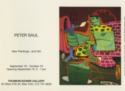 Peter Saul: New Works... and Old