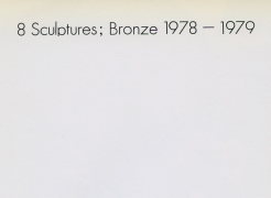 Arman: 8 Sculptures; Bronze 1978-1979