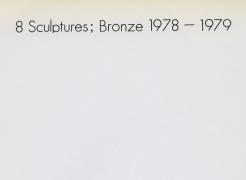 Arman: 8 Sculptures; Bronze 1978-1979