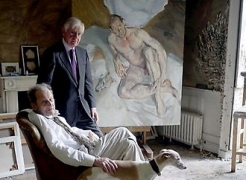 Bill Acquavella and Lucian Freud
