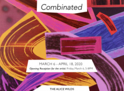 """Shane Walsh solo exhibition invitation for """"Combinated"""", The Alice Wilds, Milwaukee, WI"""