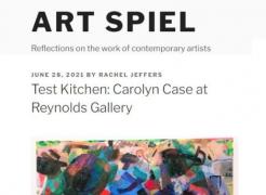 Carolyn Case review in Art Spiel