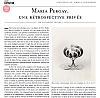 Maria Pergay featured in Le Quotidien de l'Art