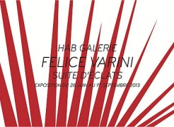 Felice Varini exhibits at HAB Galerie, Nantes