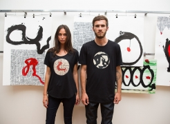 Max Gimblett and Martin Popplewell collaboration for Workshop (2015)
