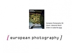 Abelardo Morell featured in, and on the cover, of European Photography