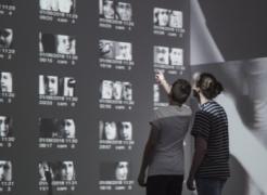 Rafael Lozano-Hemmer in collaboration with Krzysztof Wodiczko  Zoom Pavilion  2015  Interactive video installation  Dimensions variable  Courtesy: bitforms gallery, New York  Musée d'Art Contemporain de Montréal, Montréal, Québec, Canada, 2018.