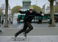 Shaun Gladwell - Self Portrait Spinning and Falling in Paris