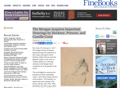 Fine Books and Collections: The Morgan Acquires Important Drawings by Hockney, Puryear, and Camille Corot
