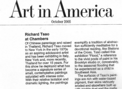 Richard Tsao at Chambers Fine Art, by Edward Leffingwell