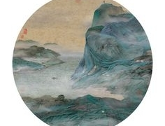 《洪磊在前波画廊》