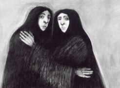Selina Trieff: Six Life-Size Charcoal Drawings, 1982-2000