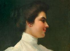 John Edmund Califano (1862-1946), Woman with Flowers,