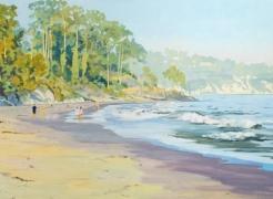 ROBIN GOWEN , Walking on Goleta Beach,