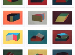 Sol LeWitt, forms derived from a cubic rectangle