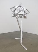 silver human sculpture
