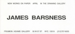 James Barsness 1994 Exhibition Announcement