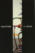 "'Sculpture & Color Part I' 1989 Exhibition Announcement picturing a detail of Robert Hudson's ""Blue Antler, Red Wrench, Radiator,"" 1987"