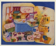 Peter Saul 1989 Drawing Gallery Exhibition Announcement