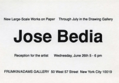 Jose Bedia 1991 Exhibition Announcement