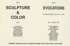'Sculpture & Color Part II' 1989 Exhibition Announcement