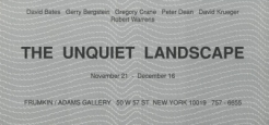 'The Unquiet Landscape' 1980-90 Exhibition Announcement Card