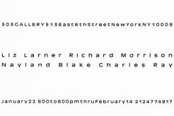 Liz Larner, Richard Morrison, Charles Ray, Nayland Blake
