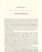 The Hudson Review Vol. LXII, No, 3: At the Galleries