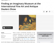 BLOUDINARTINFO: Finding an Imaginary Museum at the International Fine Art and Antique Dealers Show