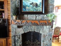 Deer & Teton Fireplace mantel