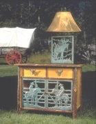 Cowboy Cabinet and Lamp
