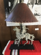 Indian on Pony Lamp