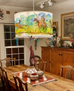 Native American Painted Chandelier