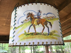 Painted Cowboy Chandelier