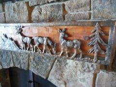 Deer Fireplace Mantle Casting