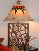 Petroglyph Lamp