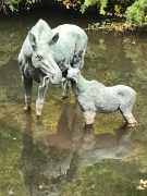 Red Butte Moose Cow & Calf - Life-Size
