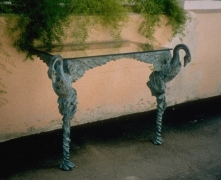 Bronze Swan Table