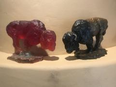 Lost Wax Cast Glass Bison