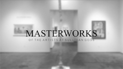 Installation photograph of MASTERWORKS OF THE ARTISTS OF SULLIVAN GOSS, 2019, Hank Pitcher, Ken Bortolazzo, Angela Perko, Charles Arnoldi