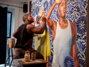 Kehinde Wiley explains his 'An Economy of Grace' paintings focusing on black women