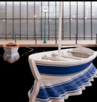 Leandro Erlich's 'Port of Reflections' at Neuberger Museum of Art