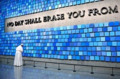 Pope Francis Pays Tribute to the Dead at Spencer Finch's Sky-Colored 9/11 Installation