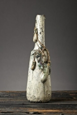 Monumental Eggplant Bottle Form Vase