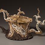 Charred Birch Stump Teapot