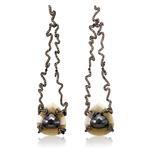 Zig Zag Long Drop Earrings