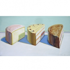 "Wayne Thiebaud | ""Wayne Thiebaud's Vision of American Beauty As he turns 100, the California artist's paintings of cakes, pies and other ordinary diner fare have become iconic"""