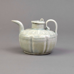 A Yingqing Squat Ewer and Cover