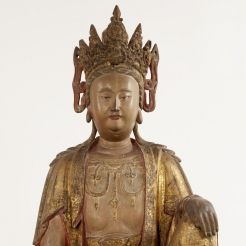 Chinese Buddhist Wood Sculpture