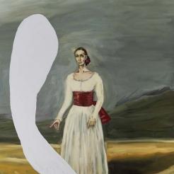 Portrait of Tatiana Lisovskaia As The Duquesa De Alba I by Julian Schnabel